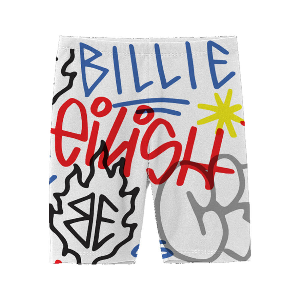 Bravado Billie Eilish X Freakcity Graffiti Billie Eilish Cycling Shorts Merch