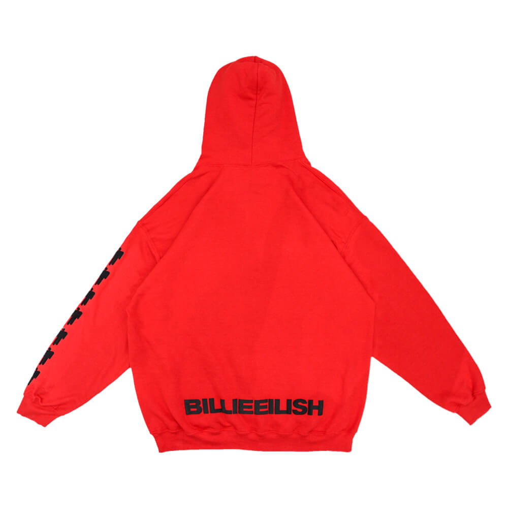 Bravado Red Billie Hoodie Billie Eilish Hood Sweater