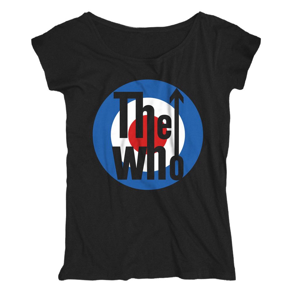 Target Logo von The Who - Loose Fit Girlie Shirt jetzt im Bravado Shop