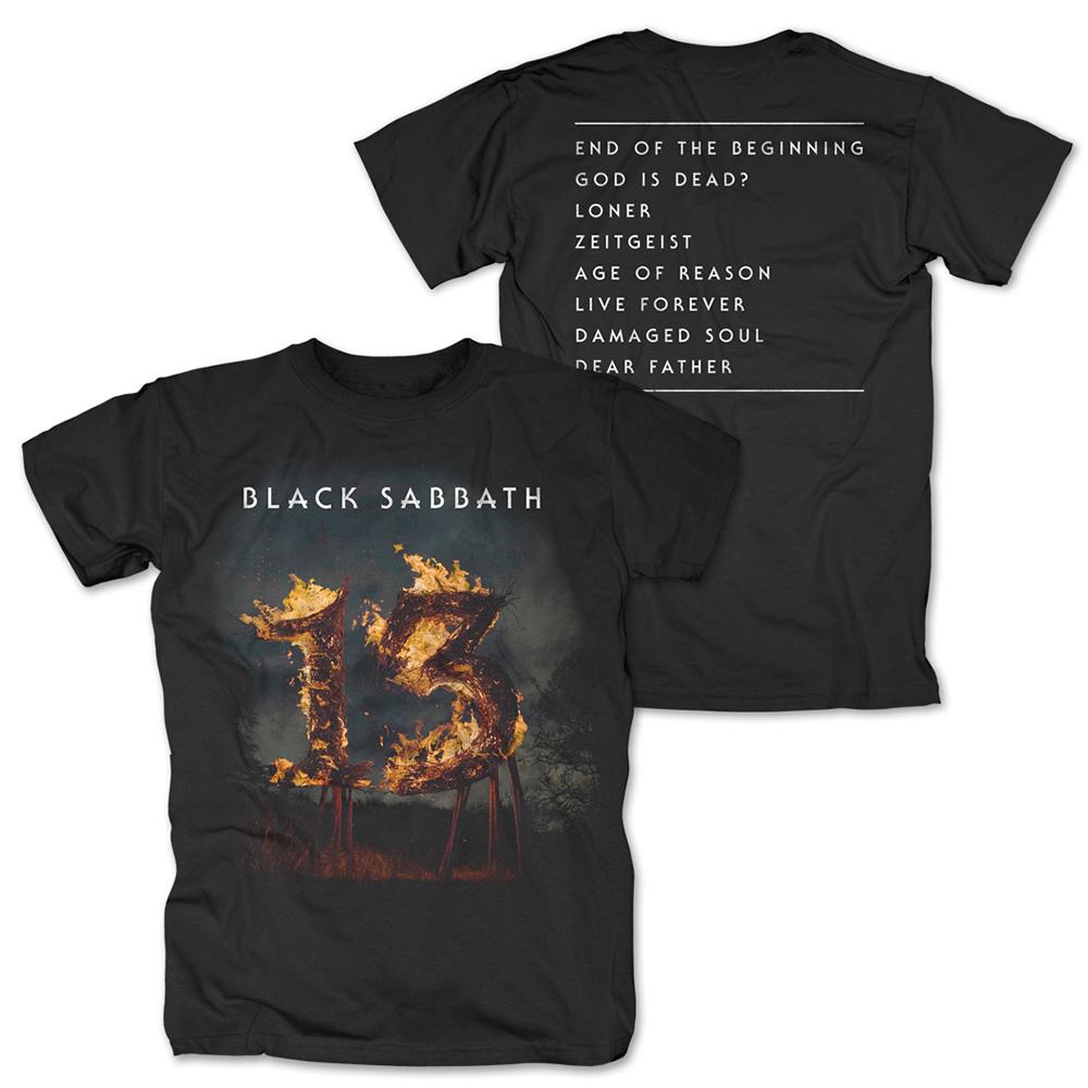 13 Tracklist von Black Sabbath - T-Shirt jetzt im Bravado Shop