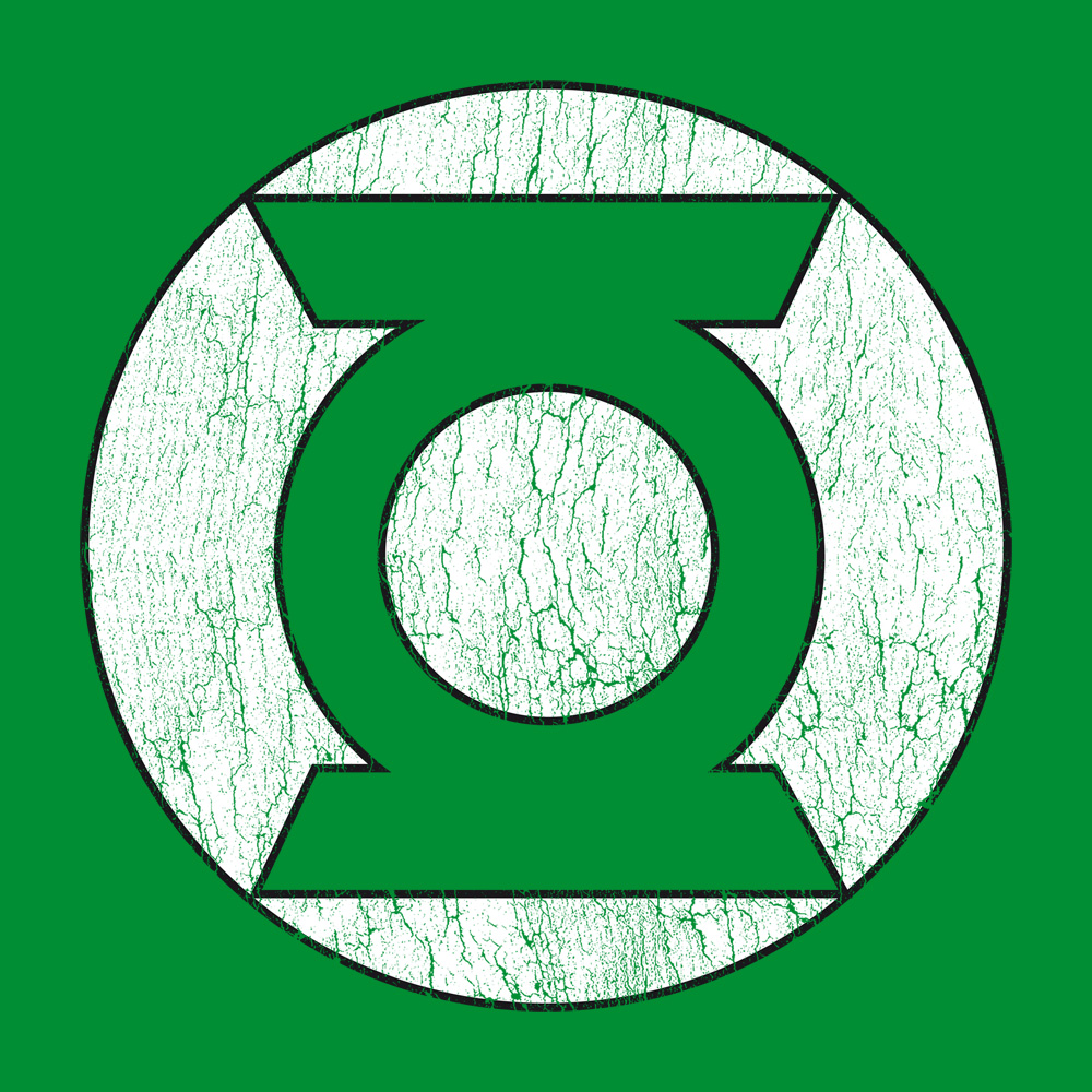 Bravado - Green Lantern Logo - Justice League - T-Shirt ...