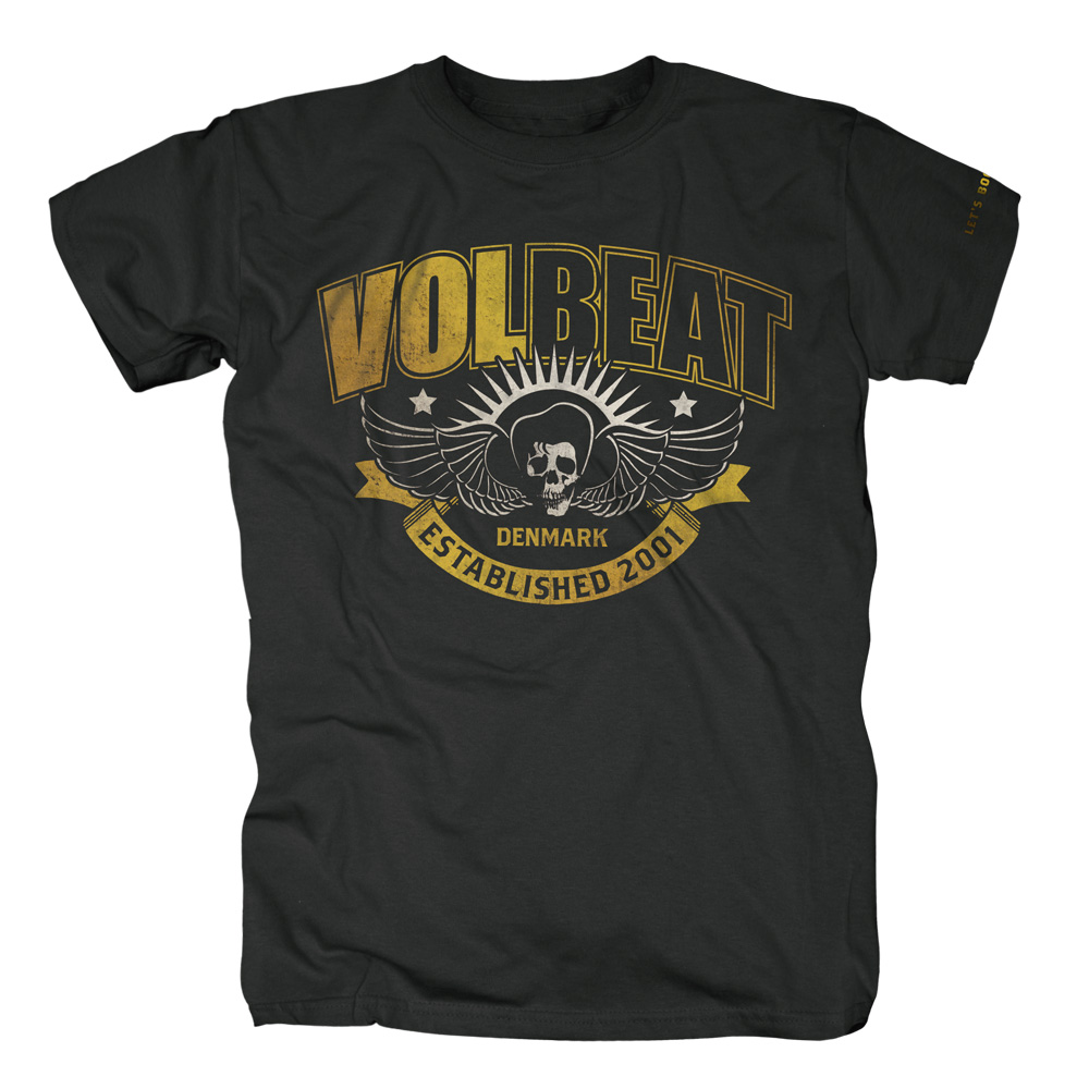 Yellow Skullwing Ribbon von Volbeat - T-Shirt jetzt im Bravado Shop