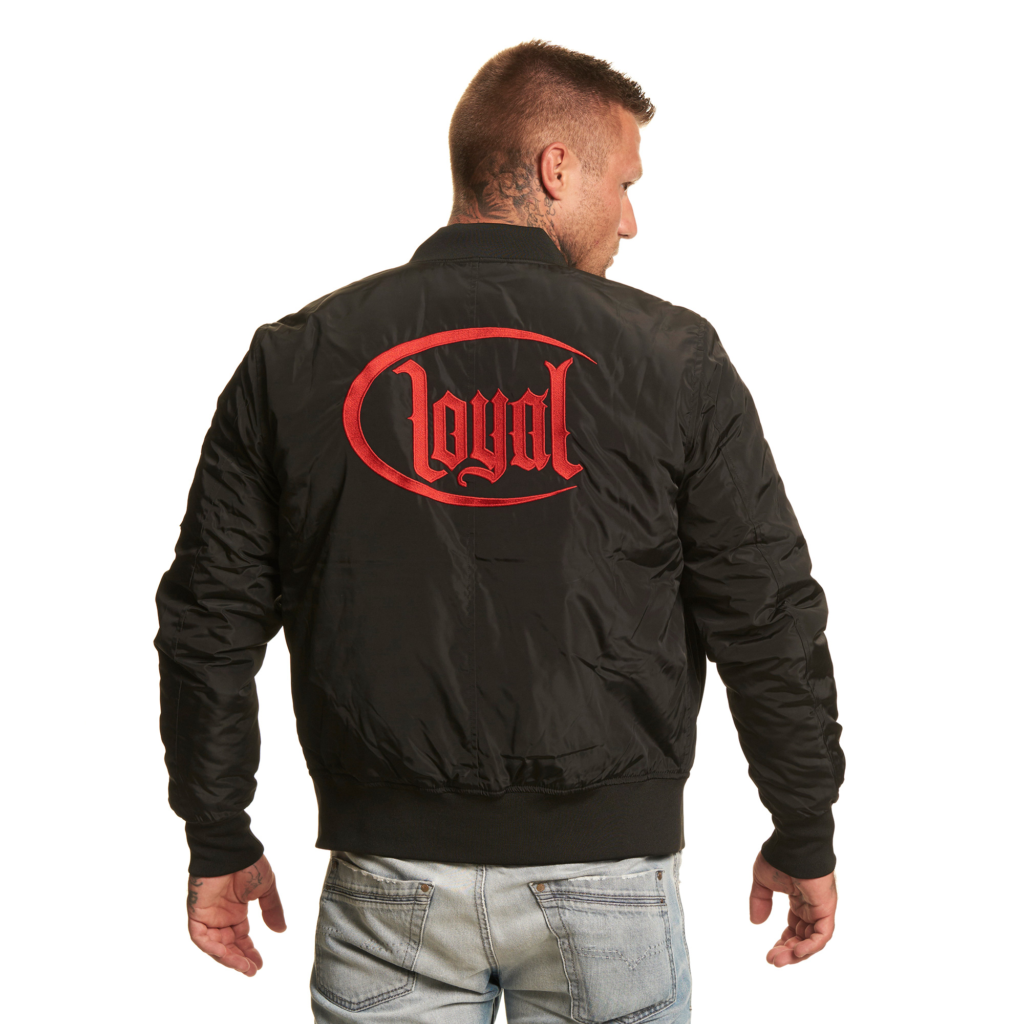 Kontra Circle Bravado K Loyal Red Bomber Merch Jacke n0wOkP