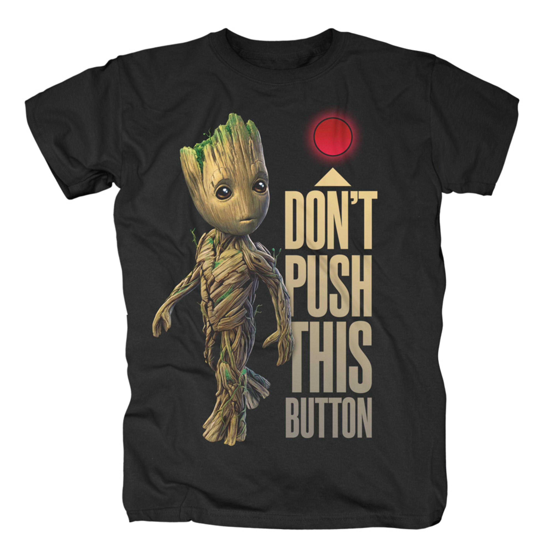 Groot Button von Guardians of the Galaxy - T-Shirt jetzt im Bravado Shop