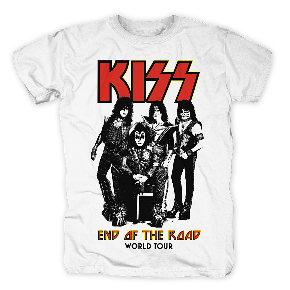T-SHIRT KISS END OF THE ROAD