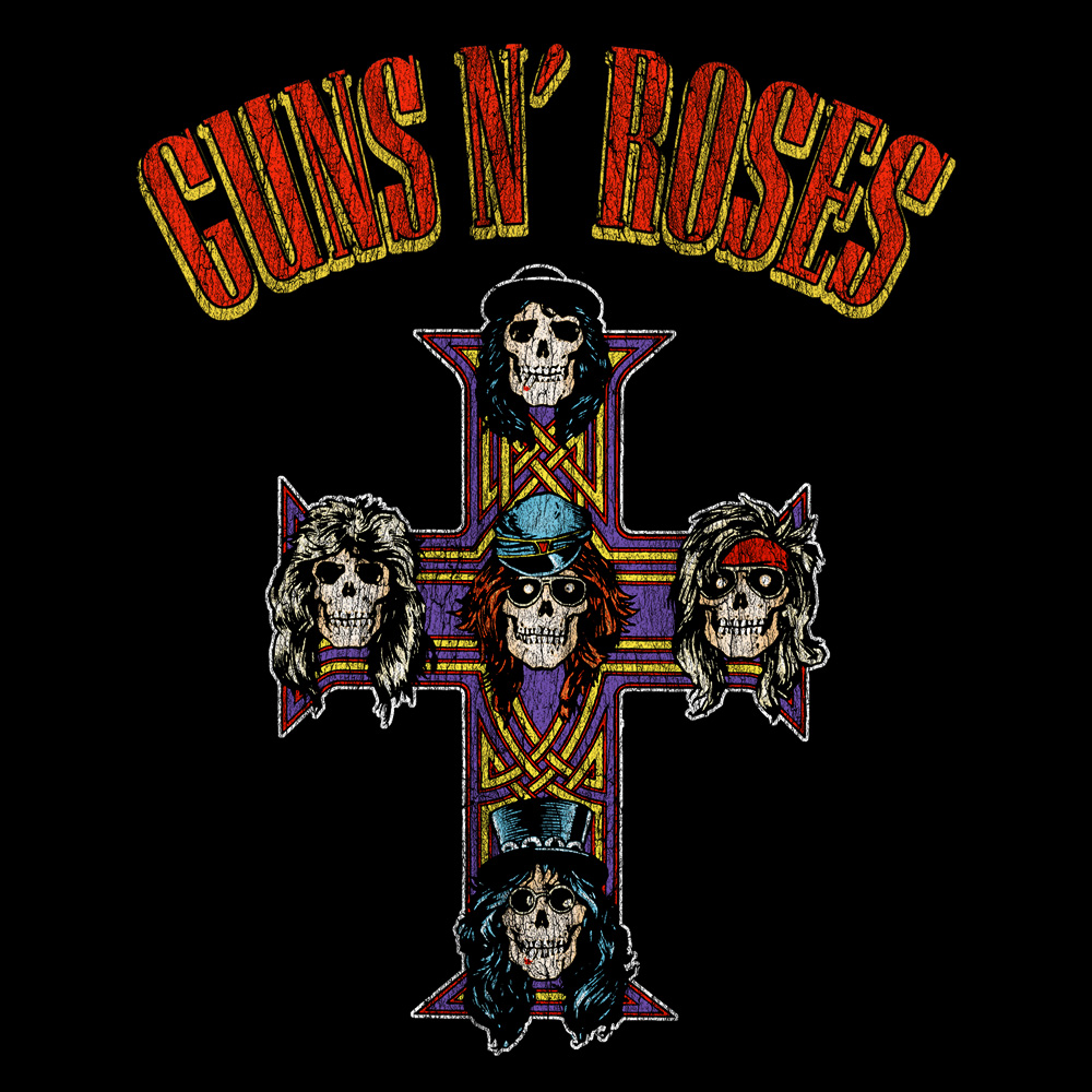 Bravado Cross Arched Type Guns N Roses 100 Cotton
