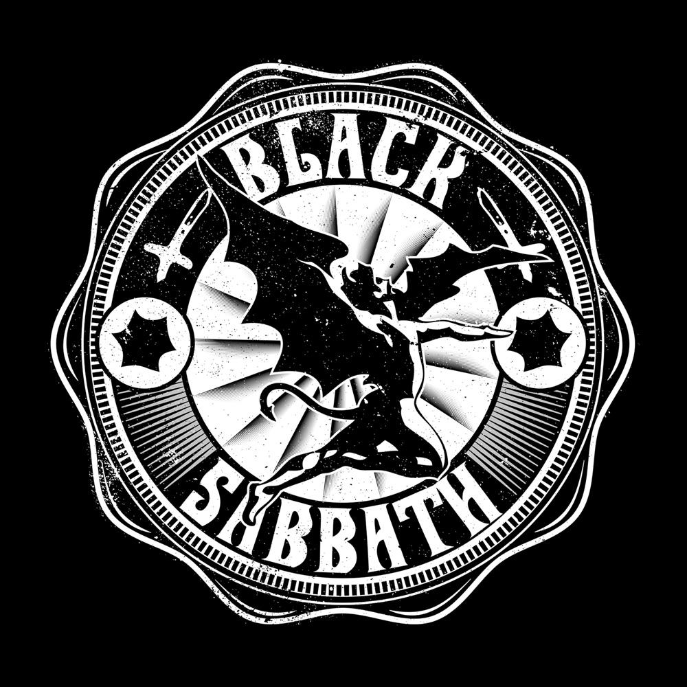 Bravado Lucifer Rising White Black Sabbath 100 Cotton