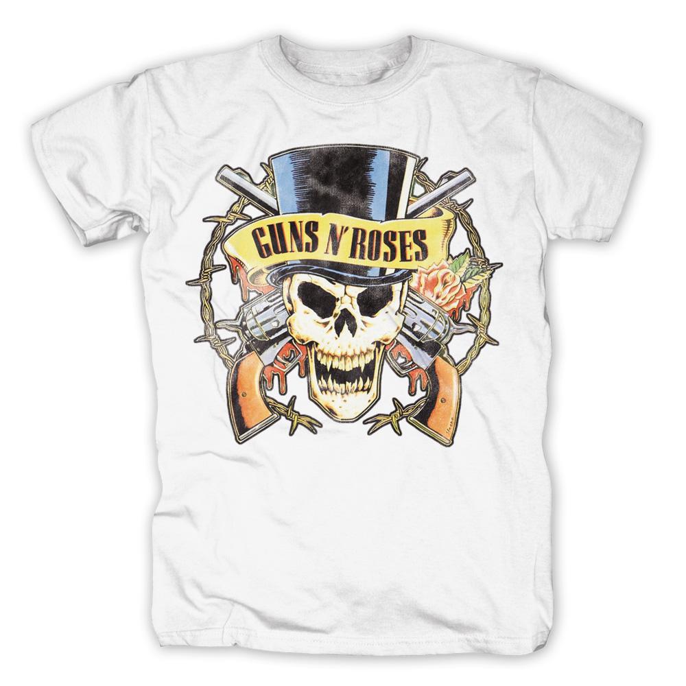 Bravado Distressed Top Hat Guns N Roses T Shirt
