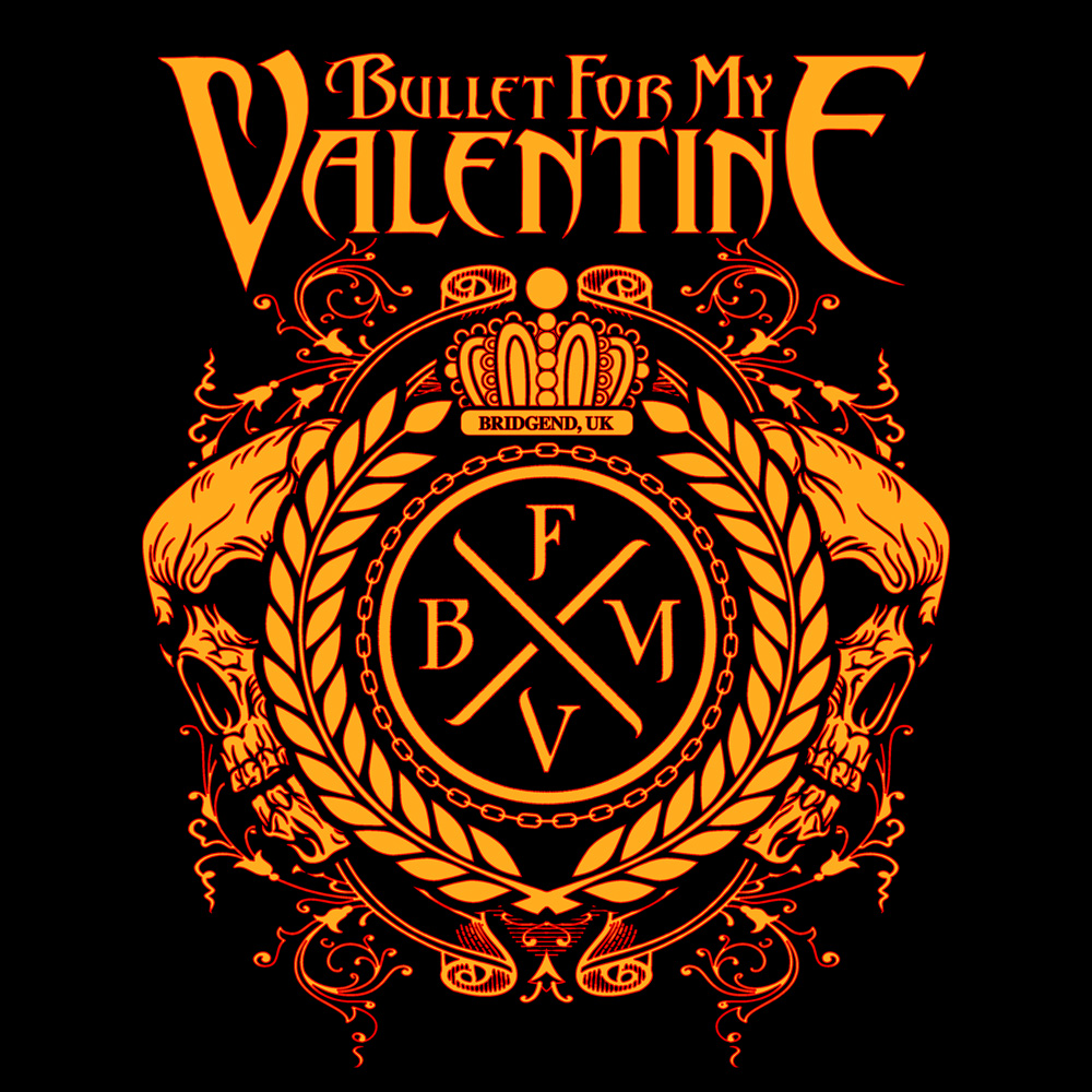 Bravado Crest Logo Bullet For My Valentine 100 Cotton