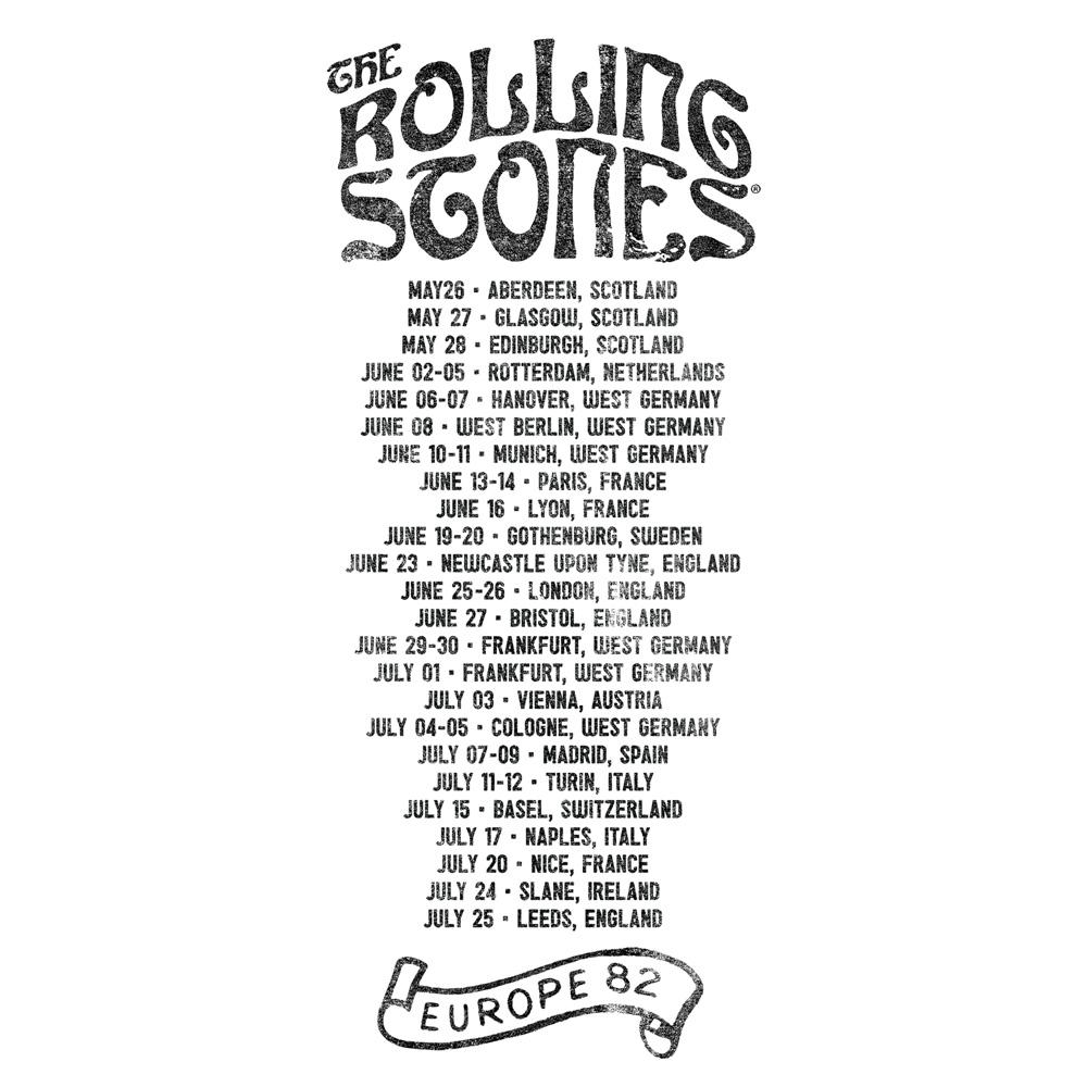 be41a5fd √Europa Tour 82 von The Rolling Stones - T-Shirt jetzt im Bravado