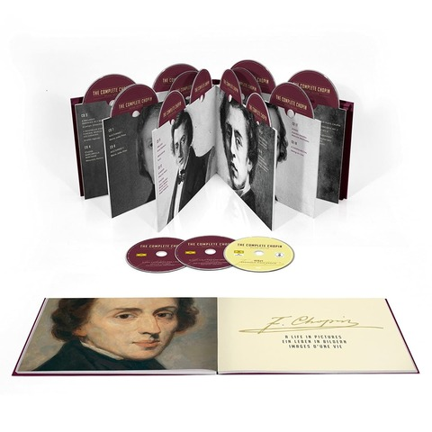 The Complete Chopin Deluxe Edition (20CDs + DVD) von Argerich / Blechacz / Pollini / Trifonov - Boxset jetzt im Bravado Shop