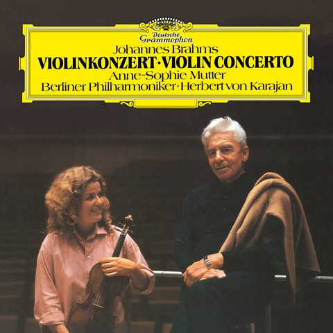 √Johannes Brahms: Violinkonzert (Op.77) von Anne-Sophie Mutter & Die Berliner Philharmoniker & Herbert von Karajan - LP jetzt im Bravado Shop