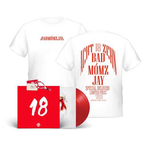 18 (Ltd. Vinyl EP + Oversize T-Shirt) von badmómzjay - Vinyl und T-Shirt Box Set jetzt im Bravado Shop
