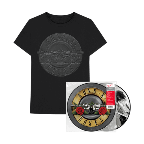√Greatest Hits Ltd. Picture Disc LP + Charcoal Sketch Seal T-Shirt von Guns N' Roses - LP Bundle jetzt im Bravado Shop