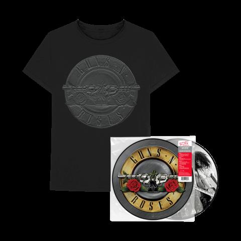 Greatest Hits Ltd. Picture Disc LP + Charcoal Sketch Seal T-Shirt von Guns N' Roses - LP Bundle jetzt im Bravado Shop