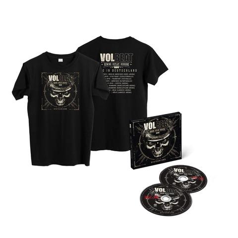 √Rewind, Replay, Rebound: Live In Deutschland (Ltd. 2CD + Shirt) von Volbeat - CD Bundle jetzt im Bravado Shop