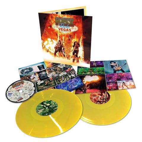 Rocks Vegas (Ltd. Coloured 2LP+DVD) von Kiss - 2LP+DVD jetzt im Bravado Shop