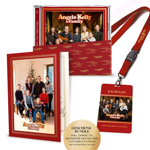 √Coming Home For Christmas (Boxset inkl. Soundcheck Access) von Angelo Kelly & Family - CD-Bundle jetzt im Bravado Shop