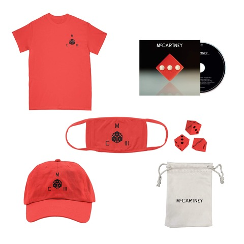 III (Deluxe Edition Red CD + Dice Set + Shirt + Hat + Mask) von Paul McCartney - CD-Bundle jetzt im Bravado Shop