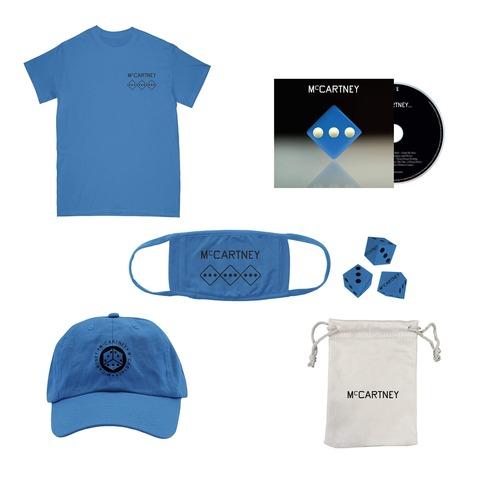 √III (Deluxe Edition Blue CD + Dice Set + Shirt + Hat + Mask) von Paul McCartney - CD-Bundle jetzt im Bravado Shop