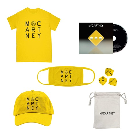 III (Deluxe Edition Yellow CD + Dice Set + Shirt + Hat + Mask) von Paul McCartney - CD-Bundle jetzt im Bravado Shop