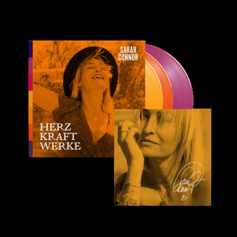√HERZ KRAFT WERKE (Special Deluxe 3LP Farbig Signiert) von Sarah Connor - 3LP jetzt im Bravado Shop