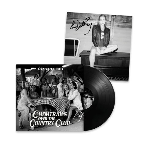 √Chemtrails Over The Country Club (Standard Black Vinyl LP + Signed Art Card 12x12) von Lana Del Rey - LP + Signed Art Card jetzt im Bravado Shop