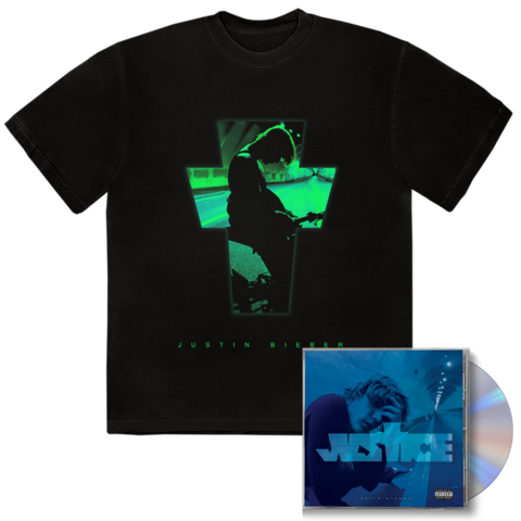 √JUSTICE ALTERNATE COVER III + EXCLUSIVE BONUS TRACK III CD + T-SHIRT von Justin Bieber - CD + T-shirt jetzt im Bravado Shop
