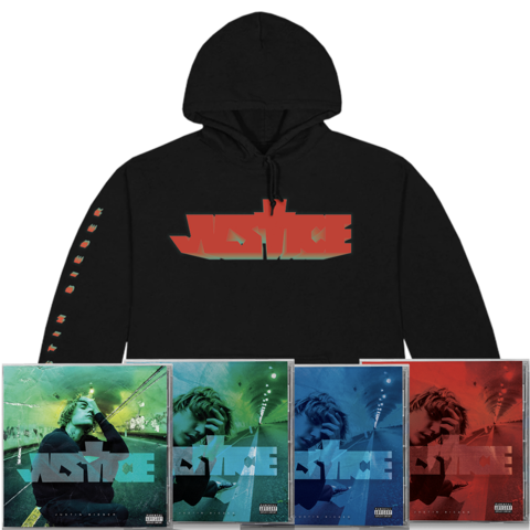 √JUSTICE COMPLETE CD COLLECTION + CROSS HOODIE von Justin Bieber - CD-Bundle jetzt im Bravado Shop