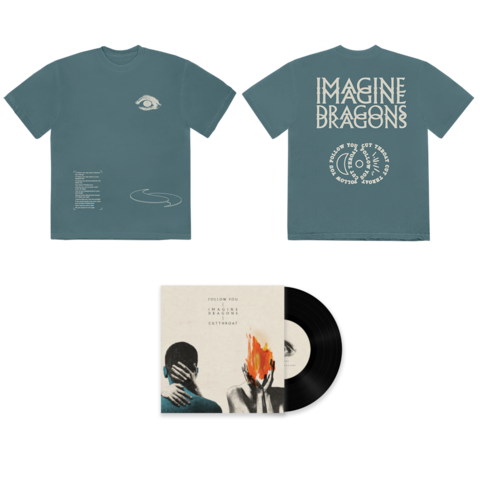 √Follow You/Cutthroat (7inch + T-Shirt) von Imagine Dragons - 7inch + T-Shirt jetzt im Bravado Shop