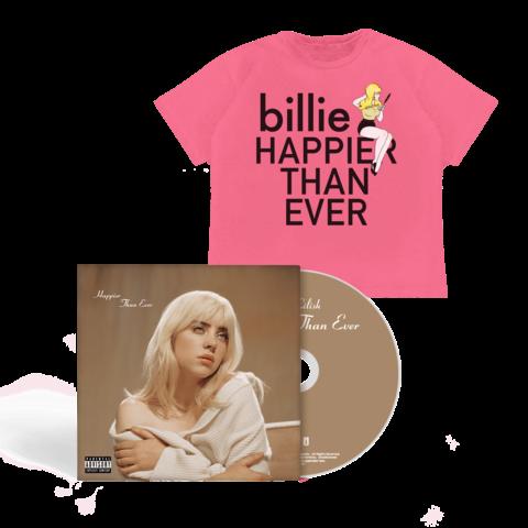 √'Happier Than Ever' Photobook CD + T-Shirt von Billie Eilish - Book CD + T-Shirt jetzt im Bravado Shop