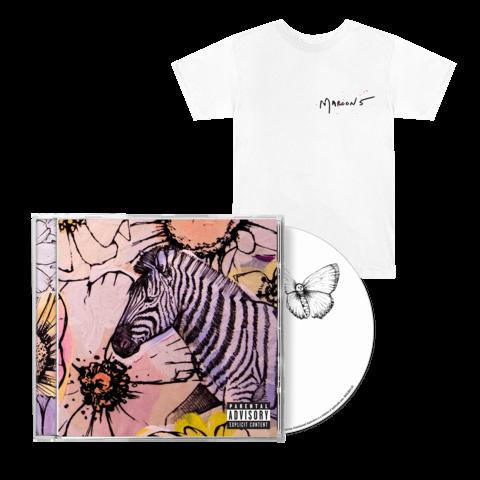 √'JORDI' (Deluxe CD + White T-Shirt) von Maroon 5 - CD Bundle jetzt im Bravado Shop