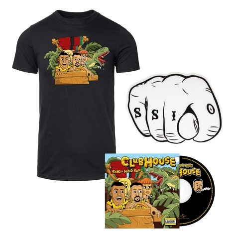 Clubhouse (Ltd. Bundle) von SSIO & Farid Bang - CD + Shirt + Schaumstoffhand jetzt im Bravado Shop