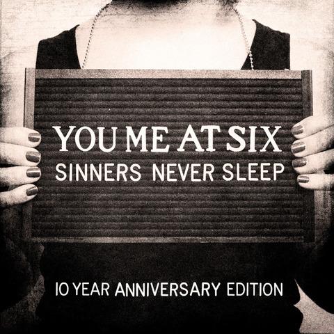 Sinners Never Sleep (10th Anniversary) von You Me At Six - 3CD jetzt im Bravado Store
