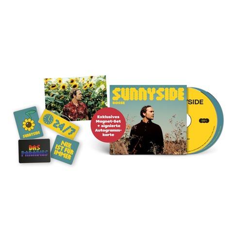 Sunnyside (Ltd Bundle: Deluxe 2CD + 4er-Magneten Set + signierte Karte) von Bosse - 2CD + Magneten-Set + Karte jetzt im Bravado Store
