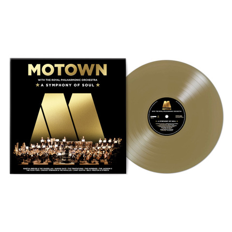 Motown: A Symphony Of Soul (With The Royal Philharmonic Orchestra) von Various Artists - Motown - Exclusive Gold Coloured Vinyl LP jetzt im Bravado Store