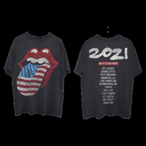 No Filter 2021 USA Flag Tongue von The Rolling Stones - T-Shirt jetzt im Bravado Store
