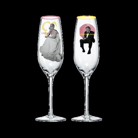 LOVE FOR SALE von Tony Bennett & Lady Gaga - Champagnergläser jetzt im Bravado Store