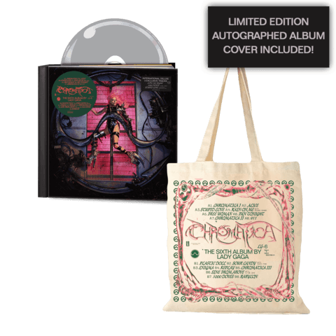 CHROMATICA (LTD DELUXE CD + TOTE BAG + AUTOGRAPHED ALBUM COVER) von Lady GaGa - CD Bundle jetzt im Bravado Shop