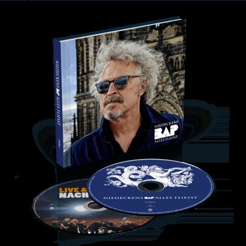√Alles fliesst (Ltd. Deluxe Hardcoverbuch inkl. Bonus Live CD) von Niedeckens BAP - 2CD jetzt im Bravado Shop
