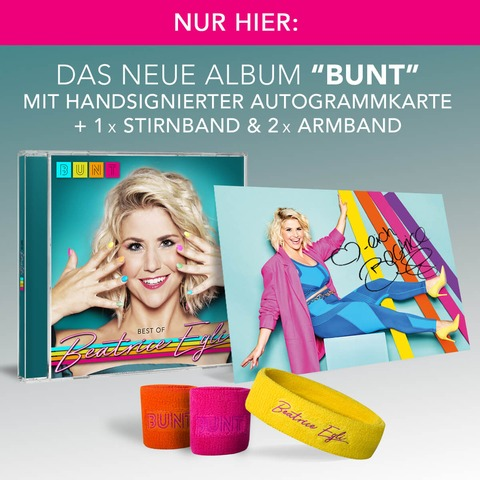 √BUNT - Best of (CD mit 6 neuen Songs und den größten Hits + Fanpaket) von Beatrice Egli - CD Bundle jetzt im Bravado Shop