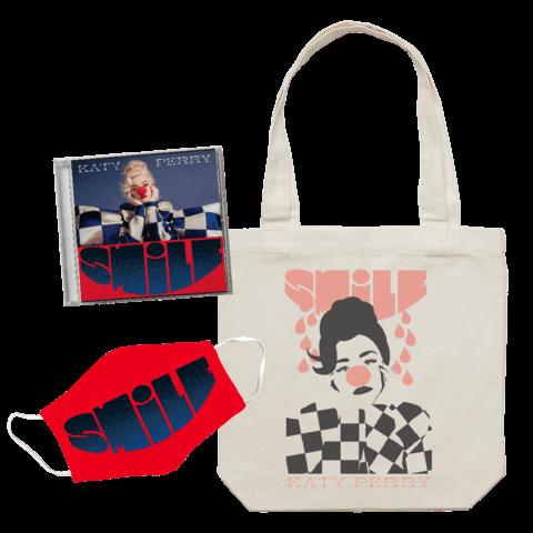 √Smile (Deluxe CD + Tote Bag + Mask) von Katy Perry - CD Bundle jetzt im Bravado Shop