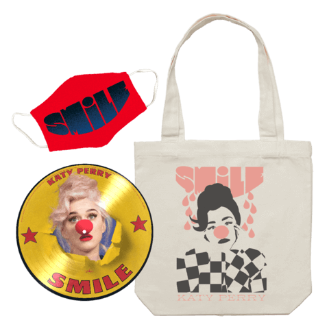 √Smile (Ltd Picture Disc + Tote Bag + Mask) von Katy Perry - LP Bundle jetzt im Bravado Shop