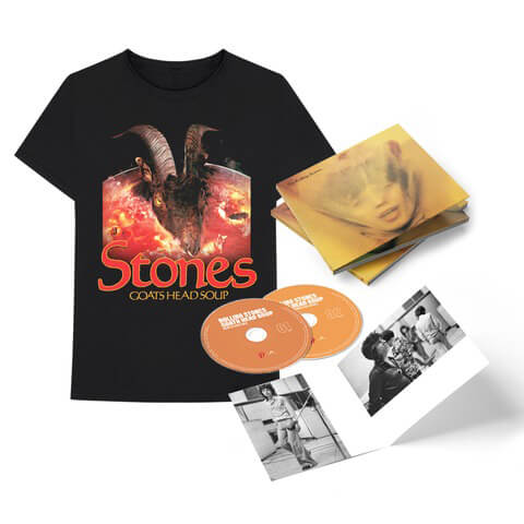 "√Goats Head Soup (2020 Deluxe CD + ""Goat Head"" T-Shirt) von The Rolling Stones - CD Bundle jetzt im Bravado Shop"