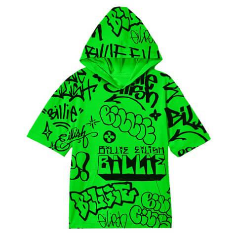 Billie Eilish x FreakCity Green Graffiti von Billie Eilish - Hoodie jetzt im Bravado Shop