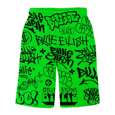 √Billie Eilish x FreakCity Green Graffiti von Billie Eilish - Shorts jetzt im Bravado Shop