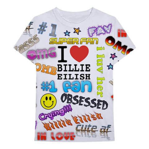√Billie Eilish x FreakCity Super Fan All Over von Billie Eilish - T-Shirt jetzt im Bravado Shop