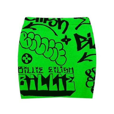 √Billie Eilish x FreakCity Green Graffiti von Billie Eilish - Minirock jetzt im Bravado Shop