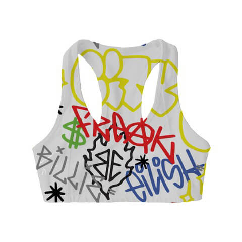 √Billie Eilish x FreakCity Graffiti von Billie Eilish - Sports Bra jetzt im Bravado Shop