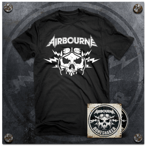 Boneshaker (Ltd Bundle: Ltd. Deluxe Edition + T-Shirt) von Airbourne - CD Bundle jetzt im Bravado Shop
